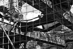 After the fire (@WineAlchemy1) Tags: daltonmills westyorkshire firedamage uk keighley beams restoration landmark northandsouth bollywood peakyblinders dereliction industrialarchaeology blackwhite noiretblanc abandoned
