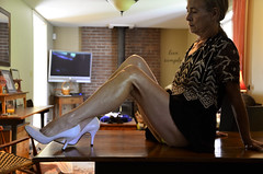 _DSC0075jj (ARDENT PHOTOGRAPHER) Tags: calves muscular female woman flexing skinny mature milf gilf highheels tiptoe