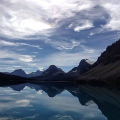 2016/366/227 Bow Lake (Edna Winti) Tags: 2016366 banffnationalpark reflection ednawinti bowlake