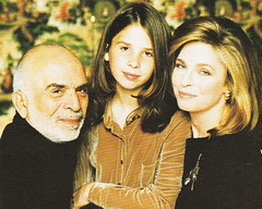 King Hussain and Queen Noor with Princess Raiyah (Doc Kazi) Tags: jordan hashemite kingdom monarchy hussein talal hassan sarvath noor lisa clinton hillary bill rabin leah mobarak yasser arafat hosni suha princes princesses nineties middle east peace oslo ii
