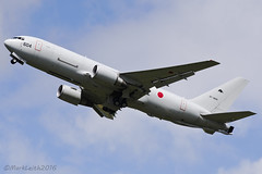 Japanese Air Self Defence Force, Boeing 767-2FKER, 07-3604. (M. Leith Photography) Tags: 7672fker boeing plane japan england fairford riat 2016 airport airshow departure 767 tanker markleithphotography nikon d7000 70200vrii vr