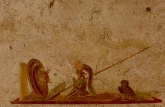les accessoires (4) (canecrabe) Tags: minerve casque fresque pompi chouette mduse gorgone bouclier