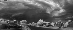 Just passing through, 7.25.16 (amyMhowardphoto) Tags: storm sky stormstructure stormcell summerstorm shelfcloud shelf shelfie shear rainshaft albuquerque abqwx abq abqnws abqwestside nm newmexico nmwx nmskies nmstorms newmexicotrue newmexicothunderstorms neighborhoodstorms monsoon monsoon2016 panorama pano infrared ir irpano clouds cloudstructure cloudporn cloudscape monotone bw bwstormscape irstorm