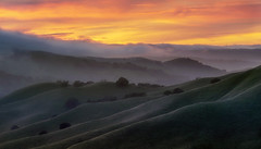 Soft transitions (Sapna Reddy Photography) Tags: delvalle livermore regionalparks ebprd outdoor sunset sky clouds hills green fog cloud california landscape nature eastbay