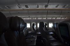 empty. (REFVL) Tags: airplane empty seats flying sky grey warm newbie