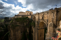 Below The Bridge - Ronda, Spain (N+C Photo) Tags: andalucia d800 dslr espaa espaol europe mediterranean adventure andalusia andaluz iberia nikkor nikon spain spanish travel european europa sky cielo history historic old architecture architectural arquitectura architectuur puente nuevo new bridge malaga 1635f40 building structural structura clouds nubes photography earth life culture discover world explore global learn civilization tierra mundo tourism holiday viaje aventura explorer vacaciones vida mundial image visual photo best artist