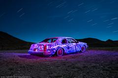 Moonlight Drive (dejavue.us) Tags: lightpainting longexposure nightphotography nikon d800 180350mmf3545 goldfield nevada nikkor carforest vle