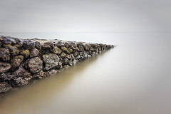 Cleveland Point (JakaPH Photography) Tags: cleveland point water sea seascape landscape long exposure wall rocks stone cloudy leading australia queensland day minimalism