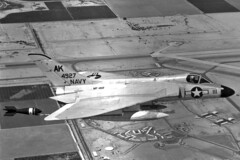 VF-102 F4D-1 Skyray BuNo 134927, AK-111 (skyhawkpc) Tags: airplane inflight aircraft aviation navy 1958 douglas naval usnavy usn dart skyray 134927 f4d1 vf102diamondbacks 145072 ak111 naaselcentro tdu10b