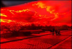 20150406-76 (sulamith.sallmann) Tags: park red berlin rot nature germany way landscape outside rouge deutschland countryside europa traffic natur parc deu prenzlauerberg weg mauerpark leuchtend landschaften pankow parkanlage sulamithsallmann