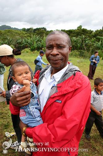 A coffee farmer in Musasa Rwanda