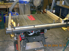Hank Kennedy table saw project - diy guide rails 19