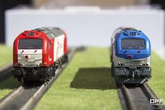 Frontal 335 (Escursso) Tags: scale train tren miniature spain diesel euro railway electro locomotive motive 187 freight maquina locomotora lokomotive 4000 emd diesellok 335 mercancias sudexpress h0 mercaderies vossloh comsa euro4000 335001 logitren 335028