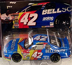 #51-47, Nemecheck, #42, Bell South, Pictures With Real Hot Wheels Cars & Their Diecast (Picture Proof Autographs) Tags: photograph photographs inperson pictureproof photoproof picture photo proof image images collector collectors collection collections collectible collectibles classic authentic authenticated real genuine diecast auto autos vehicles vehicle model toy toys automobile automobiles autoracing sport sports nascar series winstoncup sprintcup busch nationwide hotwheels fred frederick weichmann