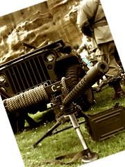 Machine Gun and Willis Jeep (Lady Wulfrun) Tags: nottingham usa army us gun jeep 1940s gathering ww2 willis mahinegun