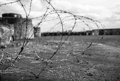 Barbed wire at Breendonk. No way out. (David Crook) Tags: leica camp blackandwhite monochrome zeiss mono concentration wire belgium m prison silence barbedwire bleak barbed concentrationcamp reportage 3514 distagon carlzeiss zm breendonk leicam distagont1435 distagon3514zm