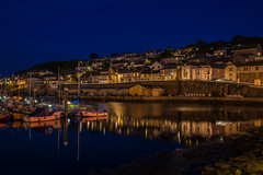 Goodnight Newlyn..... (Dafydd Penguin) Tags: houses light sea fish water night port marina 35mm reflections boats harbor town fishing nikon long exposure cornwall village shots harbour tripod trails coastal end af lands nikkor vessels newlyn d600 f2d ndock