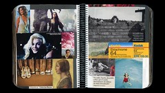 Scrapbook-2 double-page 45 (Esther Martínez Rey) Tags: collage cutout magazine scrapbook paper notebook photography photo glue diary journal moda revistas cine page papier prensa diario carnet cuaderno recortar cahier coller doublepage découper