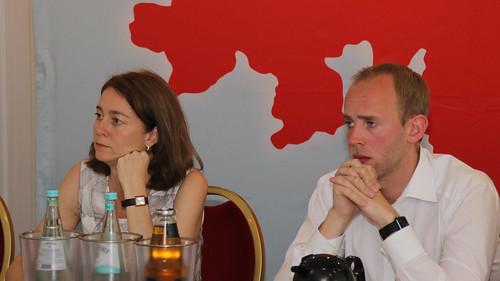 Fachgespräch zur Zukunft der Arbeit mit SPD-Generalsekretärin Katarina Barley in Oldenburg.