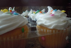 Vanilla (Uniqueful) Tags: food macro cake cupcakes yummy indoor cupcake sprinkles icing frosting
