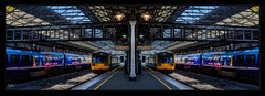 The Twins (Kevin From Manchester) Tags: railwaystation trains transport huddersfield architecture kevinwalker canon1855mm panorama panoramic