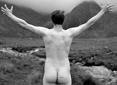 Embrace nature (plot19) Tags: embrace nature skinny dipping fairy pools isle skye hebrides mountains cuillins out door scotland scotish uk britain man son family love portrait photography plot19 people north nikon northwest northern now