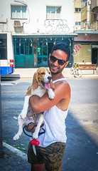 2016.07.06 Tel Aviv People and Places 06599 (tedeytan) Tags: dog israel telaviv dizengoff nadav exif:make=sony camera:make=sony exif:aperture=ƒ56 exif:isospeed=100 exif:focallength=191mm exif:lens=e18200mmf3563 exif:model=ilce6300 camera:model=ilce6300
