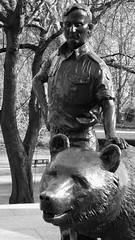 Wojtek the bear 04 (byronv2) Tags: wojtek bear statue sculpture army military worldwartwo secondworldwar wwii ww2 history allanbeattieherriot poland polish war memorial warmemorial blackandwhite blackwhite bw monochrome plaque frieze relief