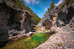 Swim or Fish? (john.c.arnold) Tags: longexposure water rock river montana stream hole canyon cliffs clear pools backcountry lamdscape awilderness
