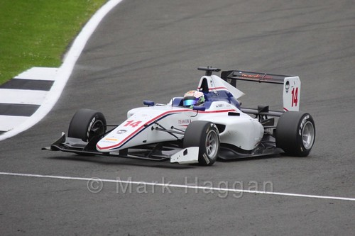 Matt Parry in the Koiranen GP car in qualifying for GP3 at the 2016 British Grand Prix