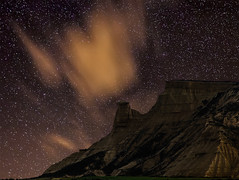 PISKERRA (Bardenas) (martin zalba) Tags: night stars landscape star paisaje estrellas estrella navarra bardenas piskerra