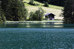 The House on the Lake (airSnapshooter) Tags: house lake mountains alps water austria tirol europa europe shed hut alpy tyrol canonef70200f4l canoneos6d