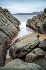 Green Cross (optimalfocusphotography) Tags: ocean sanfrancisco california longexposure sea usa beach nature water northerncalifornia rock fog landscape coast minimal