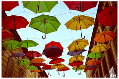 "Parapluies sur la ville - ""umbrella on the city"" - Sainte-foy-la-grande - Gironde (33) (J oSebArt's Pictures) Tags: relookage animation parapluie ombre centreville couleurs multicolore ombrire saintefoylagrande paysfoyen paysage artderue arturbain urbain gironde makeover umbrellas shadows downtown colors multicolor aquitaine adobe photoshop canon lightroom 7dmarkii eos ef2470 2016"