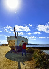 Photographer (TamaraBRB) Tags: photographer barca saline trapani sicilia sicily