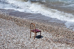 Do i have seaview ? (DirkVandeVelde Back) Tags: europa europ europe griekenland greece rodos rhodos beach outdoor buiten strand plage sea zee meer mer chair stoel