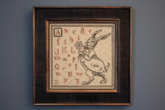 Boomer's Bunny (interchangeableparts) Tags: crossstitch easterbunny