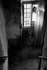 i luoghi del Mio Cuore. 1. (daniland) Tags: bw biancoenero scale stairway decadente decadenza finestra windows luoghi abbandonati muri architettura italy palazzo filetto lunigiana cuore grigio vuoto
