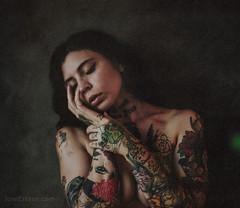 Alessandra (Jose Esteve Photography) Tags: portrait film tattoo mediumformat portra400 mamiyarz67