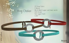 Ring Chokers (Pamela Igalies / Bokeh) Tags: cute leather fashion necklace pretty mesh bokeh jewelry sl event fabric secondlife virtual strap accessories collar exclusive choker accessory treschic originalmesh bokehstore