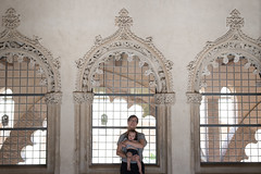 Chilling in the windows (petyr.rahl) Tags: spain aljafería zaragoza aragón es