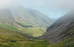 Llanberis Pass (lifeulove) Tags: wales llanberispass mountains mist sunshine rocky