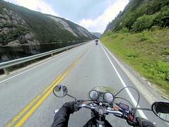 Along river at road 9. (topzdk) Tags: norway mc motorcycle honda bmw summer 2016 motorcycleride rysstad brokke