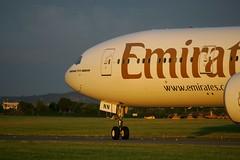 A6-ENN in golden light (D464-Darren Hall) Tags: emirates a6enn boeing777300er dub