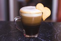 Love Coffee (Paul Istoan) Tags: morning coffee latte heart shape biscuit caffelatte drink drinks
