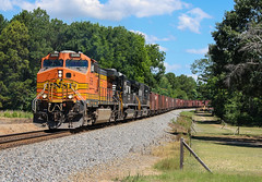 Dash 9 Trio (weshendrix) Tags: norfolk southern ns macon district georgia ga train railfan railroad rr freight manifest bnsf c449w dash 9 h2 diesel locomotive engine outdoor