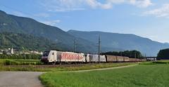 RailPool / Lokomotion_186282 (front) & 186440 (rear)_Schwaz in Tirol_310716_01 (DS 90008) Tags: traxx 186282 186440 railway wagons logistics good mountains schwaz austria austrian skyline train loks outdoors hills landscape lokomotion railpool