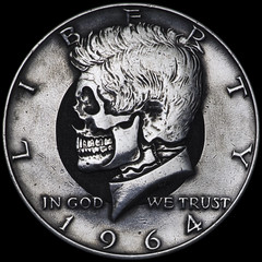 Kennedy Half #22 with Halo (Seth Basista Engraving) Tags: seth basista original hobo nickel society nickels coin skull coins youngstown ohio metal carved carving carvings seth carvings ohns usn sculpture skeleton halloween jewelry necklace ring antique unique obscure scary creepy elizabeth queen best austintown hand made etsy oddity edc every day carry everyday everydaycarry