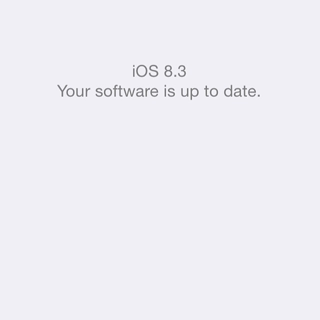 I just updated to iOS 8.3. Did you? Is #healthy for your #iphone. #softwareupdate #ios8.3 #apple #likeus #followme #DiversityNewsMagazine #consumernews #consumeralerts