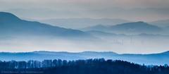 Lost in Haze (TalesOfAldebaran) Tags: blue mist mountain canon lens landscape haze factory hill serbia hills telephoto manual jupiter danilo 135mm srbija 37a cer fabrika loznica planina stefanovic  700d t5i talesofaldebaran viskozaloznica
